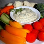 Fresh and spicy veggie dip or Creamy breakfast spread