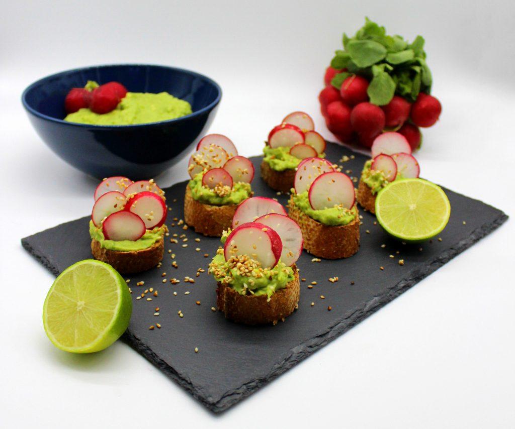 Several avocado snack breads