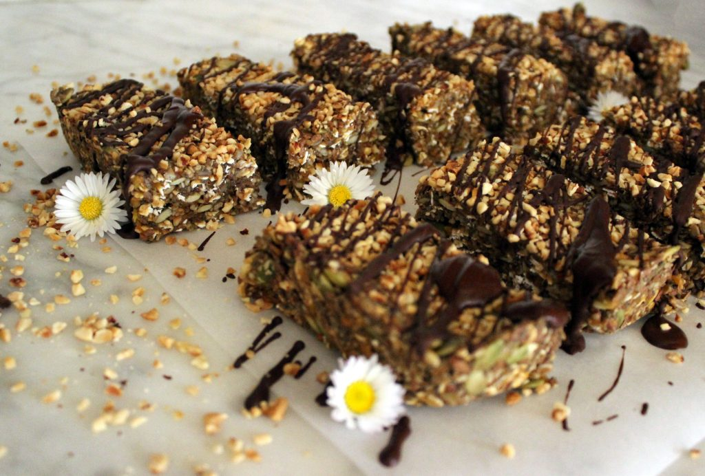 Healthy vegan no-bake protein bars