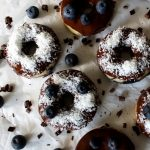 Vegan Coconut and Blueberry Donuts