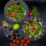 Fresh and healthy farro salad