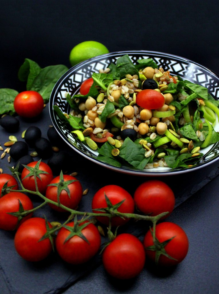 Fresh and healthy farro salad
