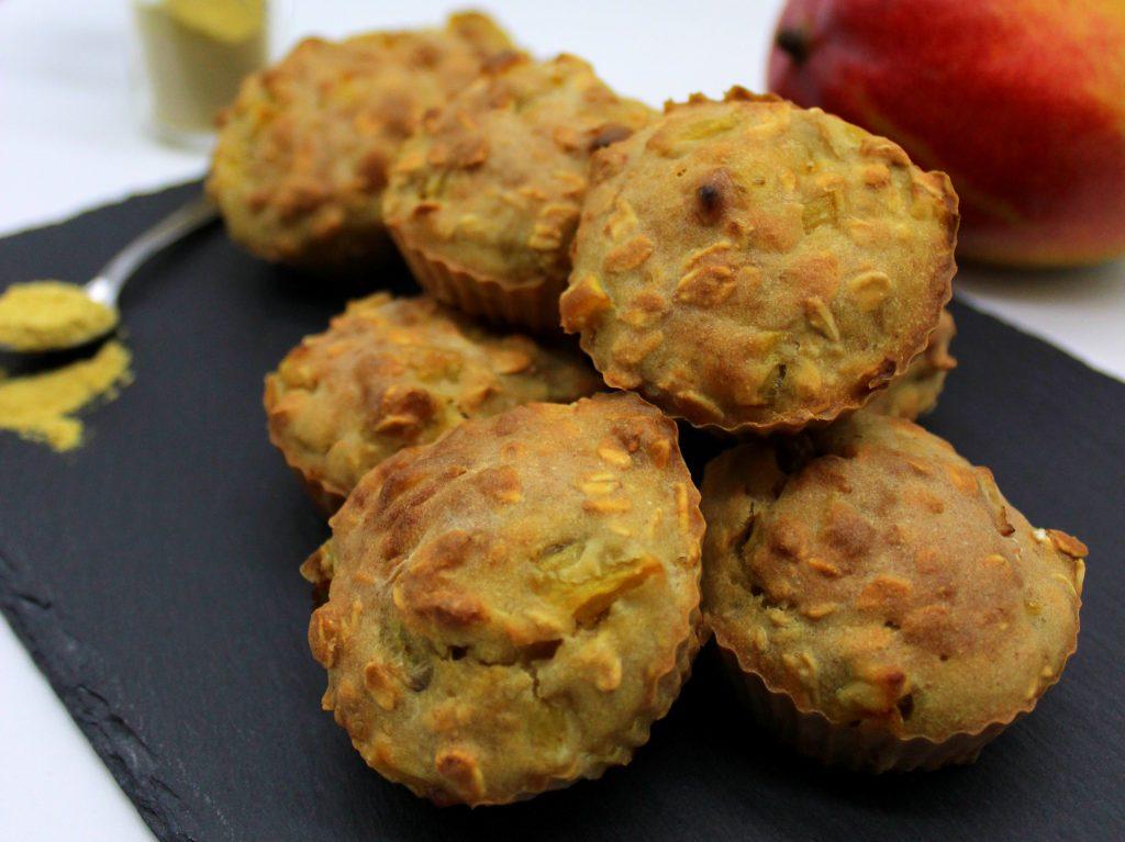 Mini muffins in closeup