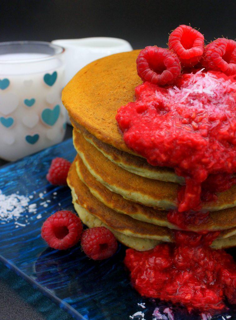 Pancakes in closeup