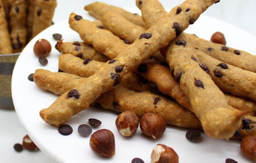 Vegan snack in close-up