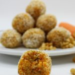 Healthy vegan carrot energy balls