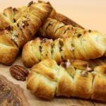 Vegan pecan braided buns