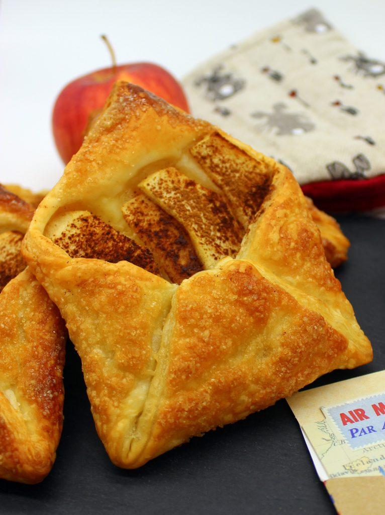 Vegan puff pastry apple buns