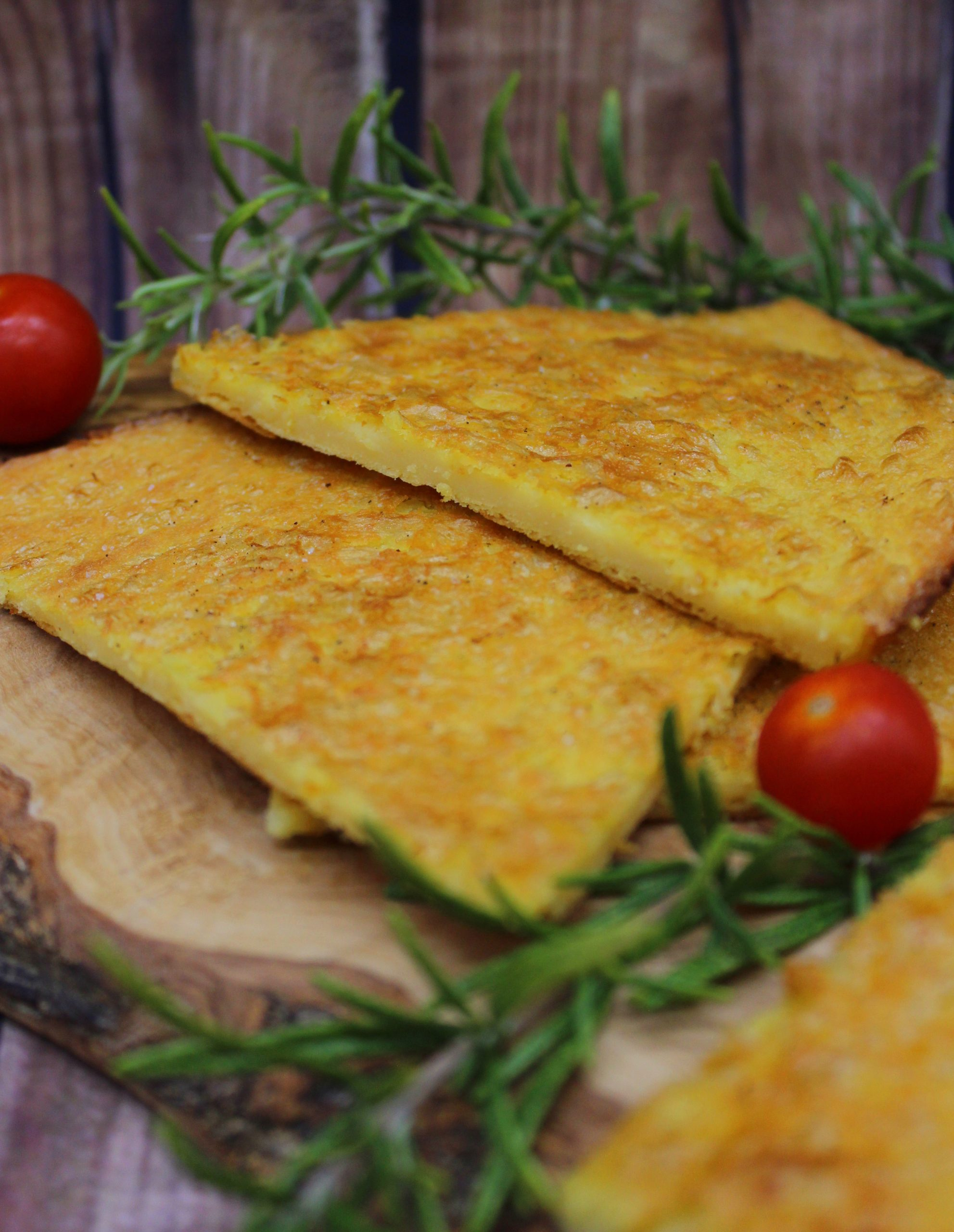 Cecina or traditional Italian chickpea flour flatbread