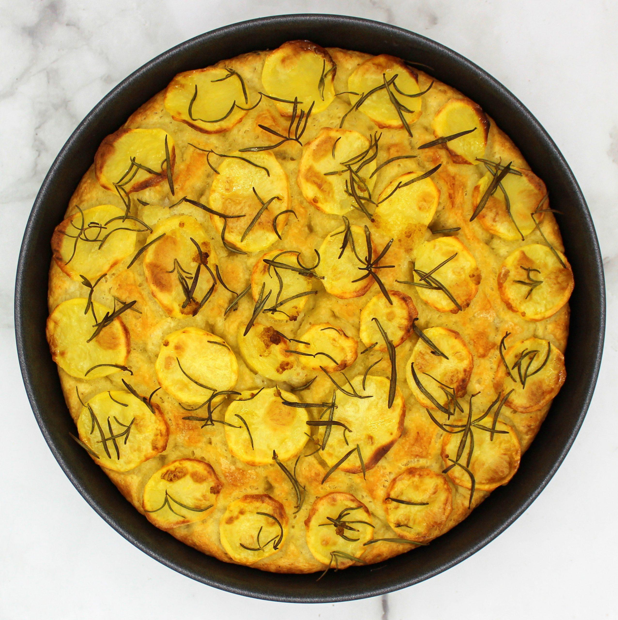 Italian Focaccia with potatoes and rosemary