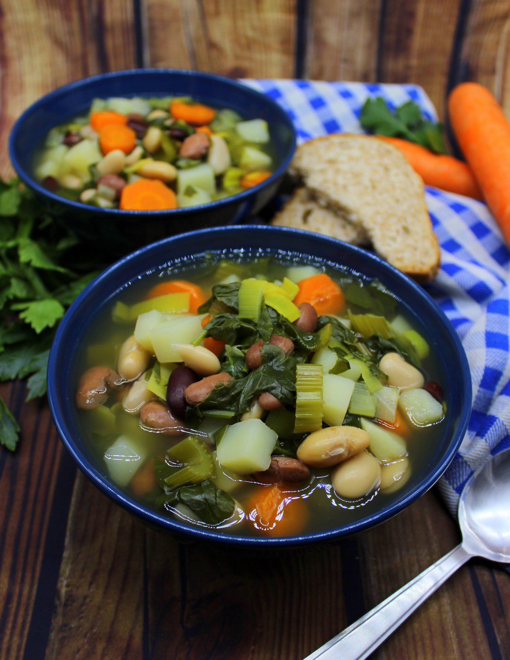 Low-fat four bean soup