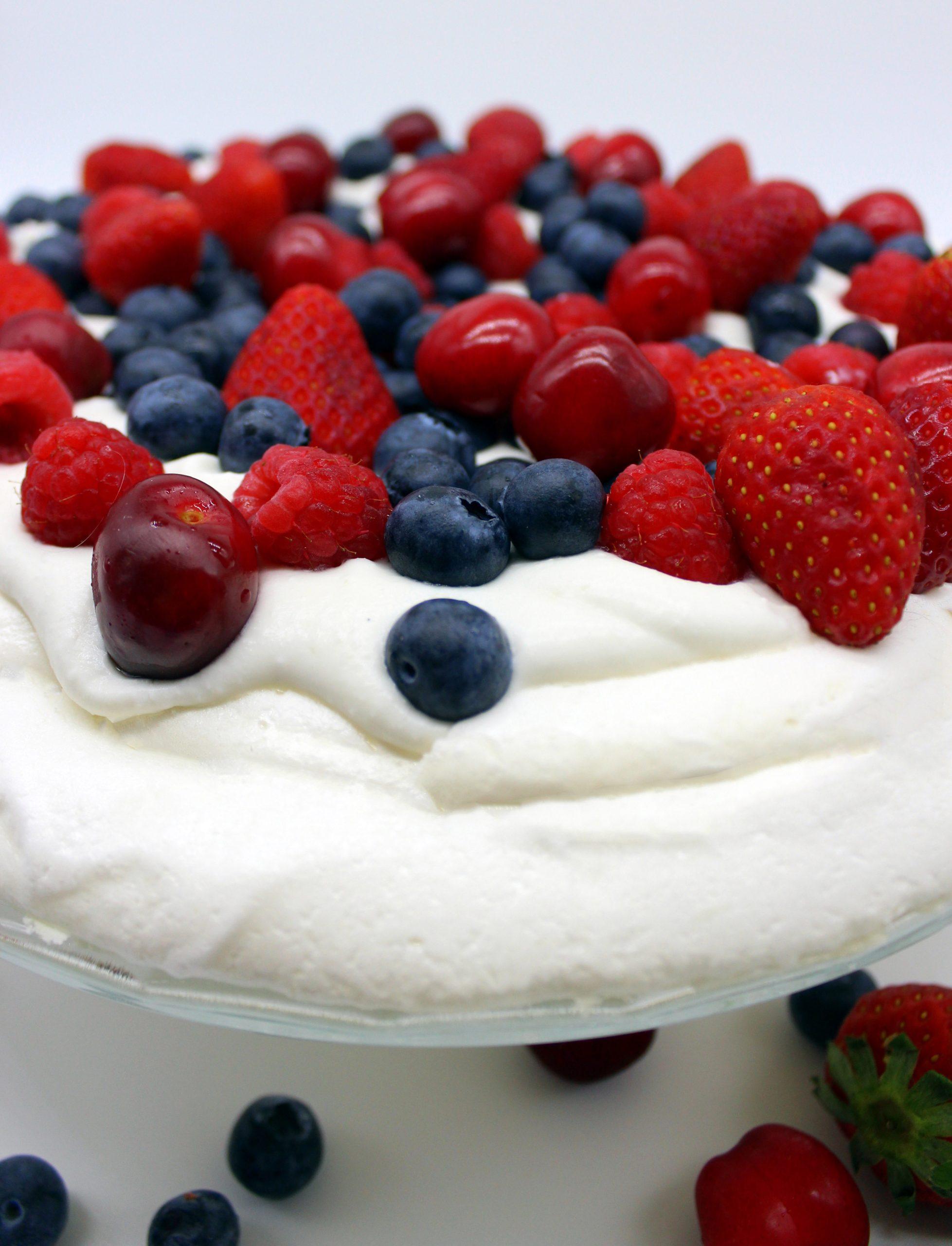 Dessert in close up