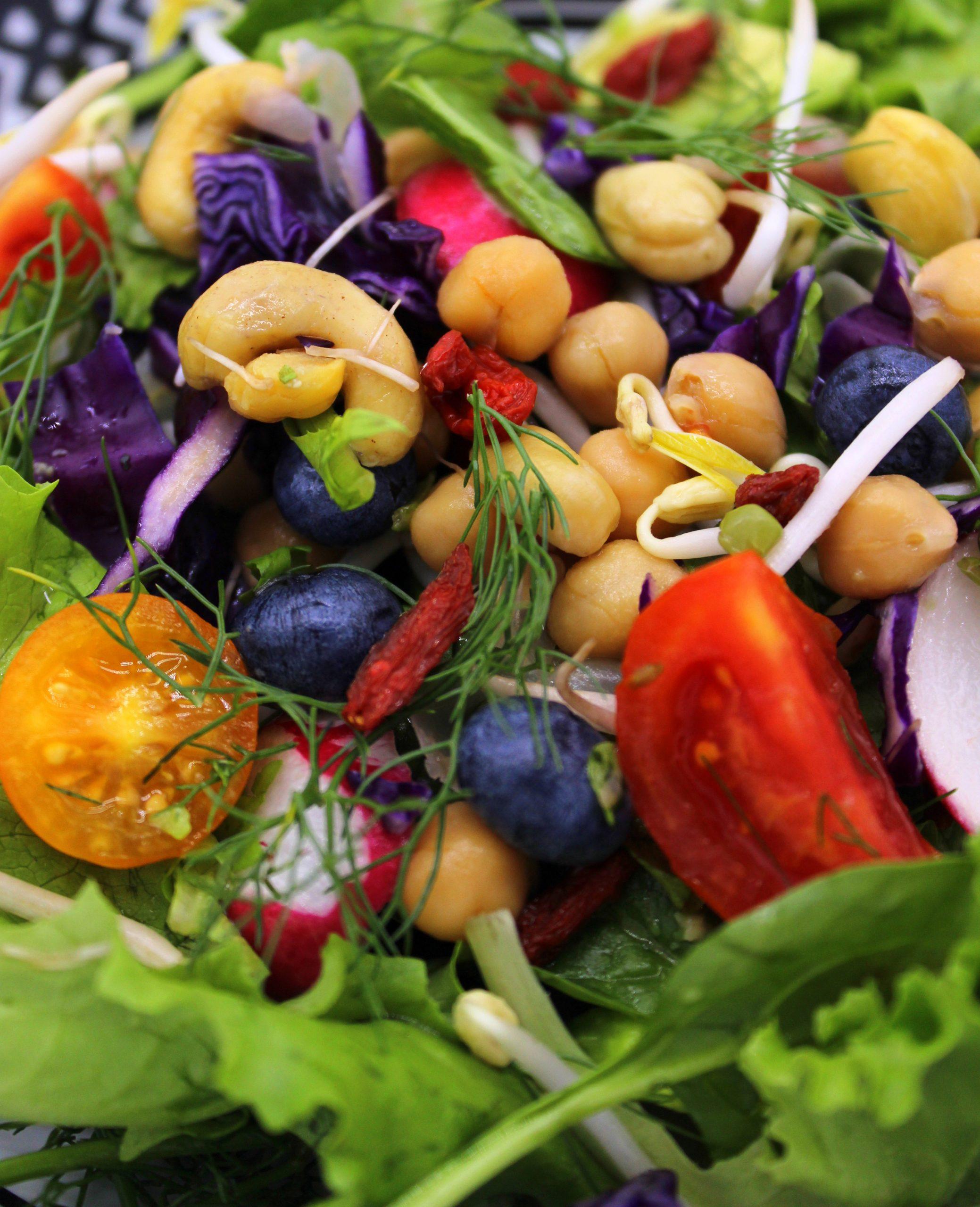 Salad in close-up