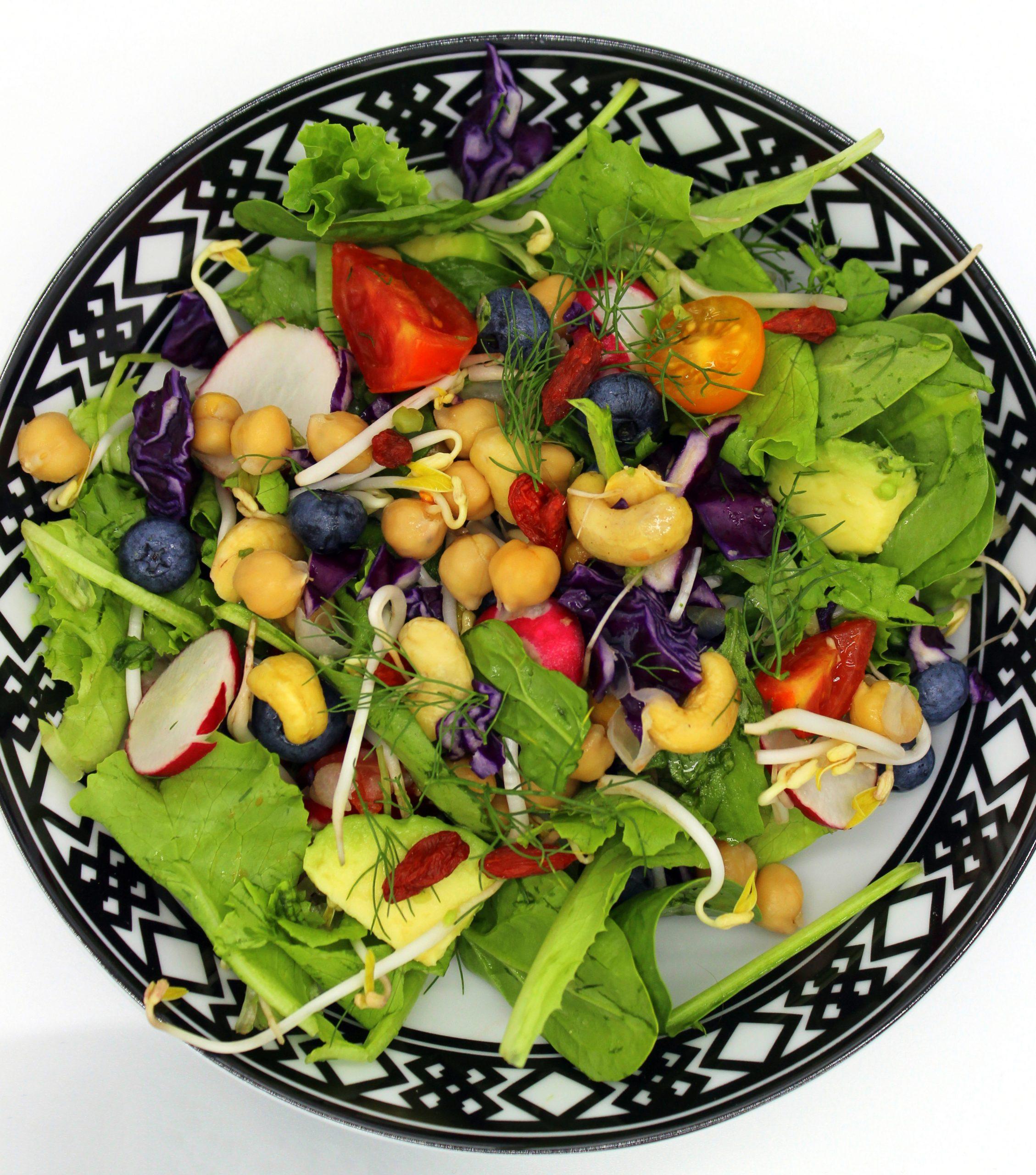 Simple vegan vitamin salad